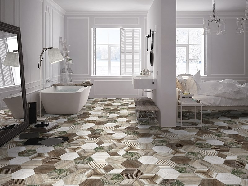 Porcelain wall/floor tiles with wood effect AFRICA by ITT Ceramic