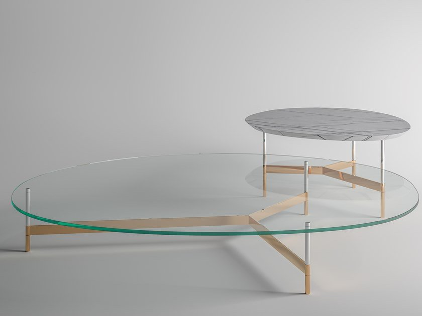 Coffee table with glass top AFTER9 | Glass coffee table by Tonelli Design