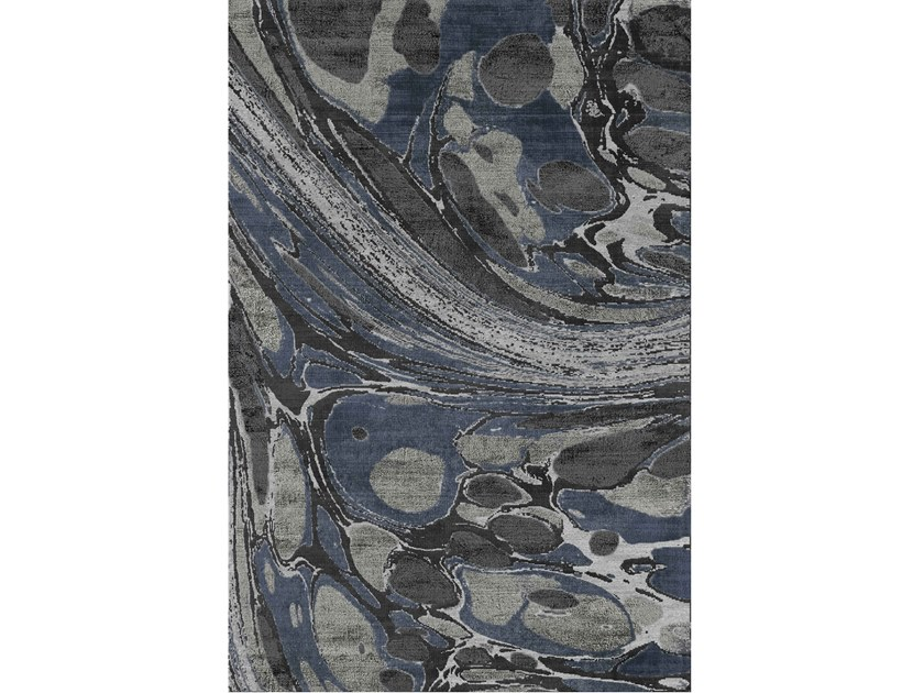 Handmade rug in New Zealand wool and bamboo AGATE by Sirecom Tappeti