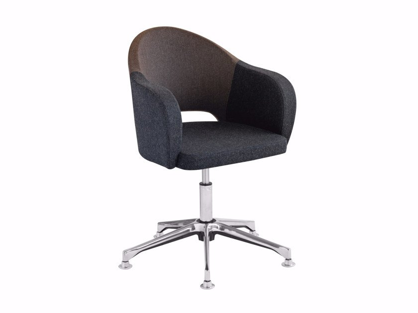 Swivel upholstered easy chair with armrests Agatha 046DP by Metalmobil