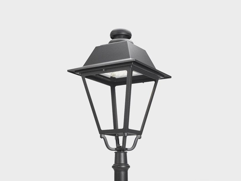 Lantern LED aluminium street lamp AGATHOS POST TOP by Cariboni group