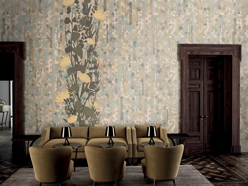 Wallpaper with floral pattern AGIO by GLAMORA