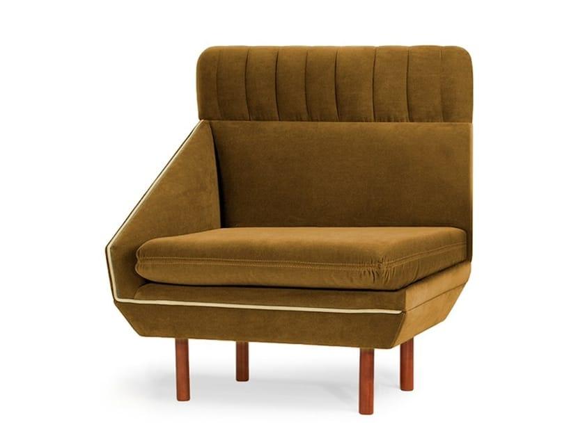 Modular high-back fabric armchair AGNES L | Modular armchair by Mambo Unlimited Ideas