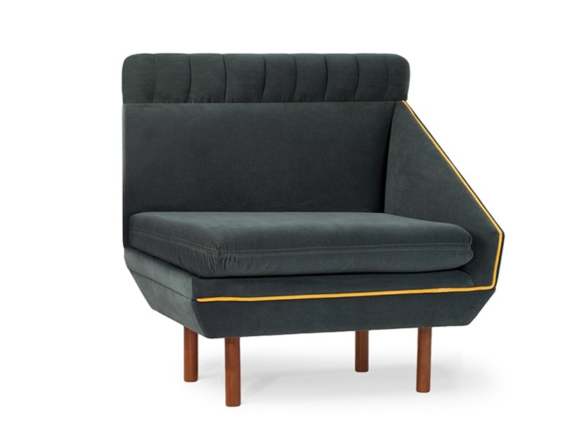 Modular high-back fabric armchair AGNES M | Modular armchair by Mambo Unlimited Ideas
