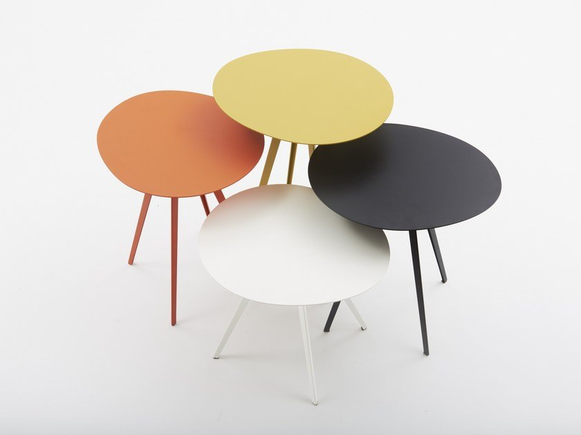 Round metal coffee table AGORÀ | Round coffee table by Segis