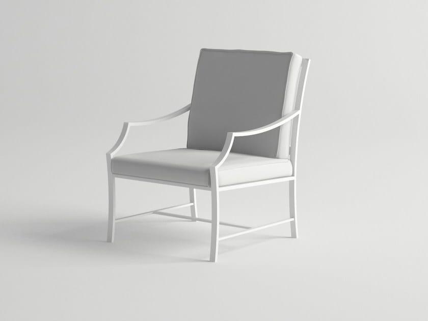 Aluminium garden armchair AGOSTO | Garden armchair by 10Deka