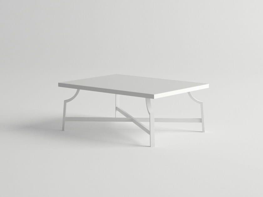 Rectangular aluminium garden side table AGOSTO | Garden side table by 10Deka