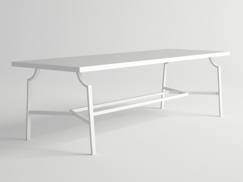 Rectangular aluminium garden table AGOSTO | Rectangular table by 10Deka