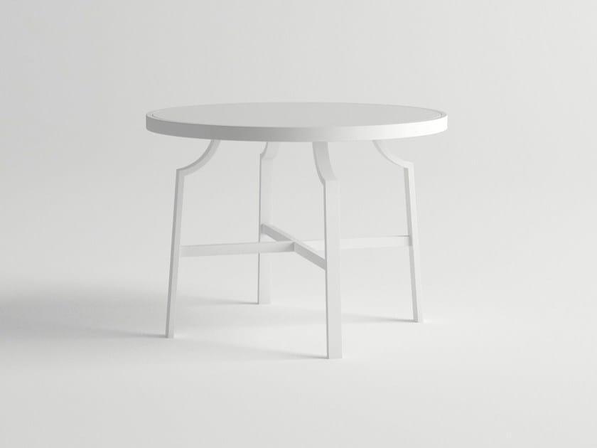 Round aluminium garden table AGOSTO | Round table by 10Deka