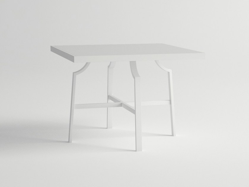 Square aluminium garden table AGOSTO | Square table by 10Deka