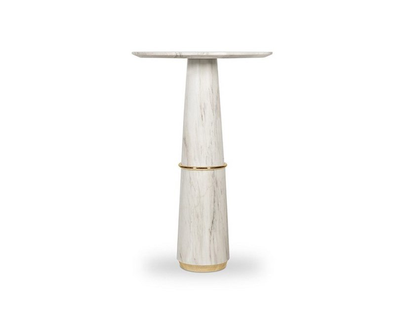 Round marble high table AGRA | High table by BRABBU