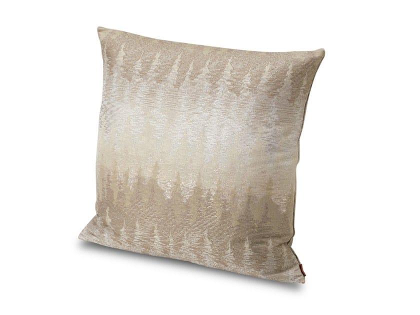 Cuscino in tessuto jacquard flame retardant tinto in filo AGUNG by MissoniHome