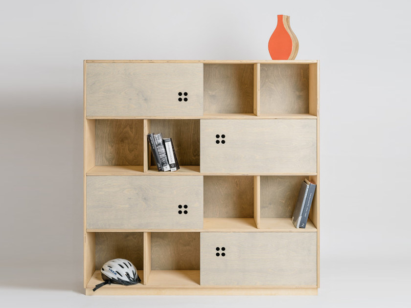 Plywood shelving unit AHH by Radis