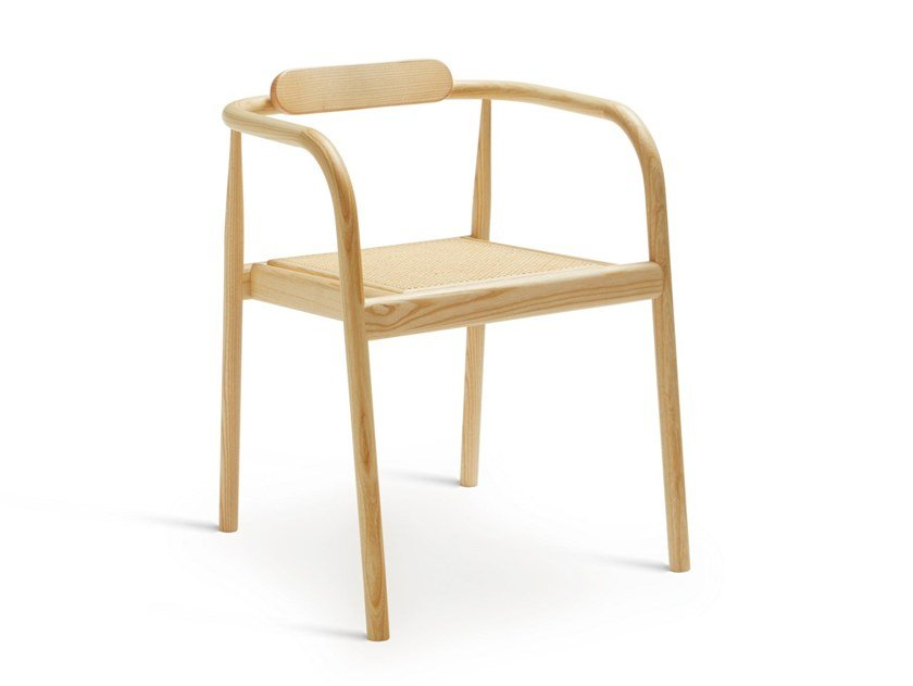 Open back stackable ash chair AHM | Chair by PLEASE WAIT to be SEATED