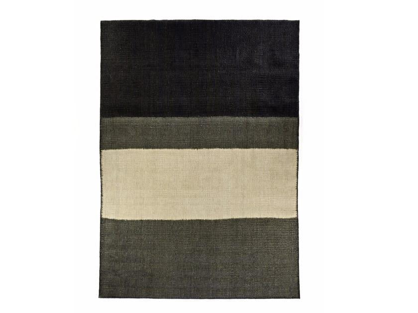 Rectangular striped fabric rug AHORA by Élitis
