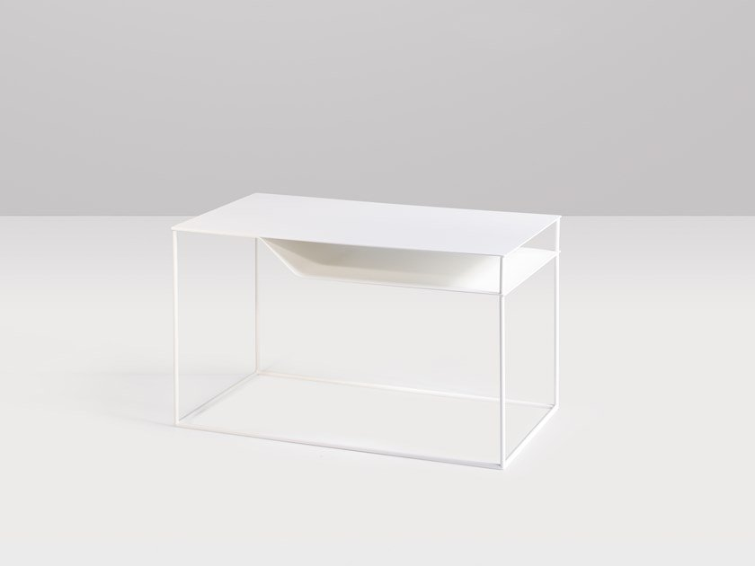 Metal coffee table with integrated magazine rack AICHI by Recor Home
