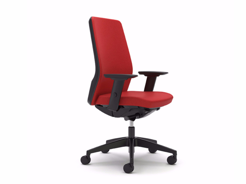 Height-adjustable fabric task chair with 5-Spoke base with armrests AIM IS1 1S01 by Interstuhl