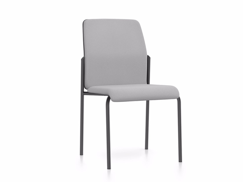 Upholstered stackable fabric reception chair AIM IS1 4S00 by Interstuhl