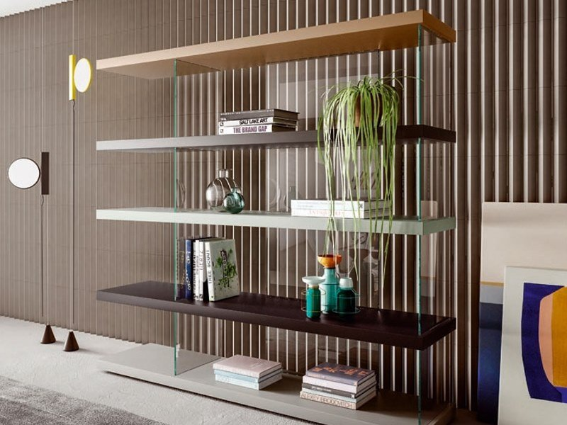Sectional bookcase AIR - 0535 | Bookcase by Lago