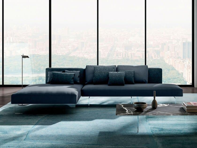 Modular sofa with chaise longue AIR - 0819   Sofa by Lago