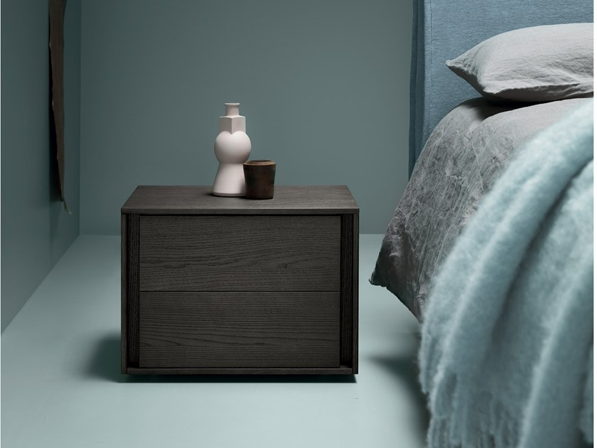 Lacquered bedside table with drawers AIR | Bedside table by Md House