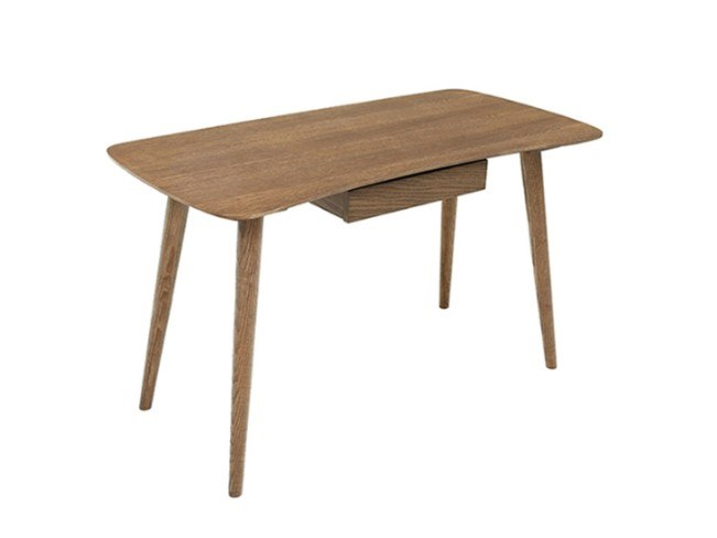 Wood veneer secretary desk with drawers AIR by Conceito Casa