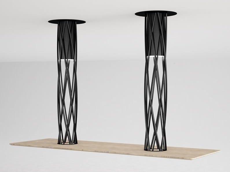 Rectangular steel and wood table AIR   Rectangular table by F.lli Orsenigo