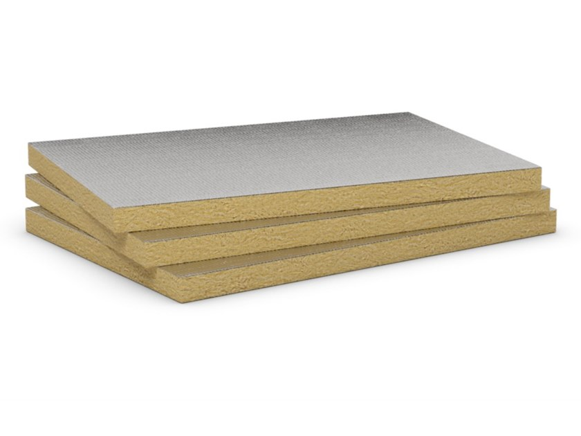 Rock wool Sound insulation and sound absorbing panel in mineral fibre AIRROCK 35 ALU by ROCKWOOL ITALIA