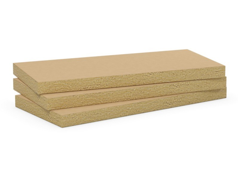 Rock wool Sound insulation and sound absorbing panel in mineral fibre AIRROCK 35 KRAFT by ROCKWOOL ITALIA
