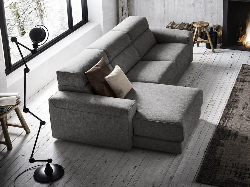 Fabric sofa with chaise longue AJAR | Sofa with chaise longue by Felis