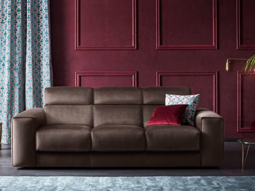3 seater velvet sofa AJAR | Velvet sofa by Felis