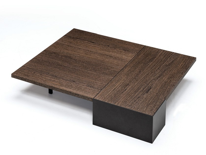 Low rectangular oak coffee table AKA | Rectangular coffee table by Arketipo