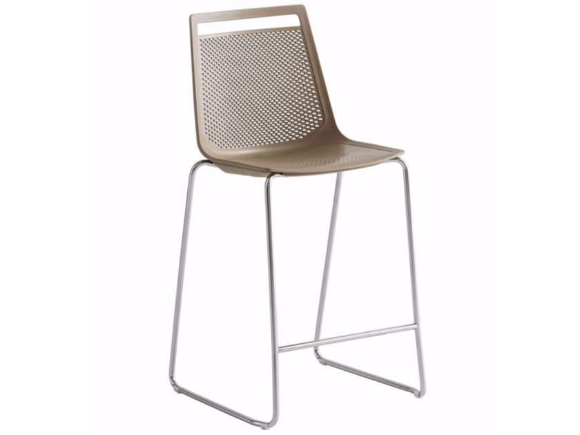 High sled base technopolymer stool AKAMI ST 75 by GABER