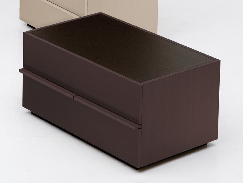 Rectangular bedside table with drawers AKI | 75 cm by EmmeBi