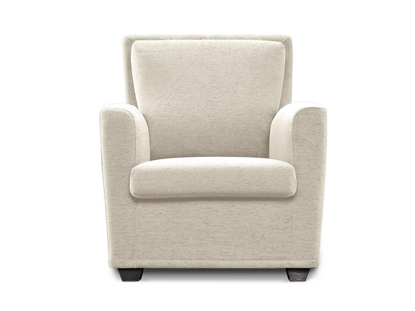 Bergere fabric armchair with armrests AKKA by Felis