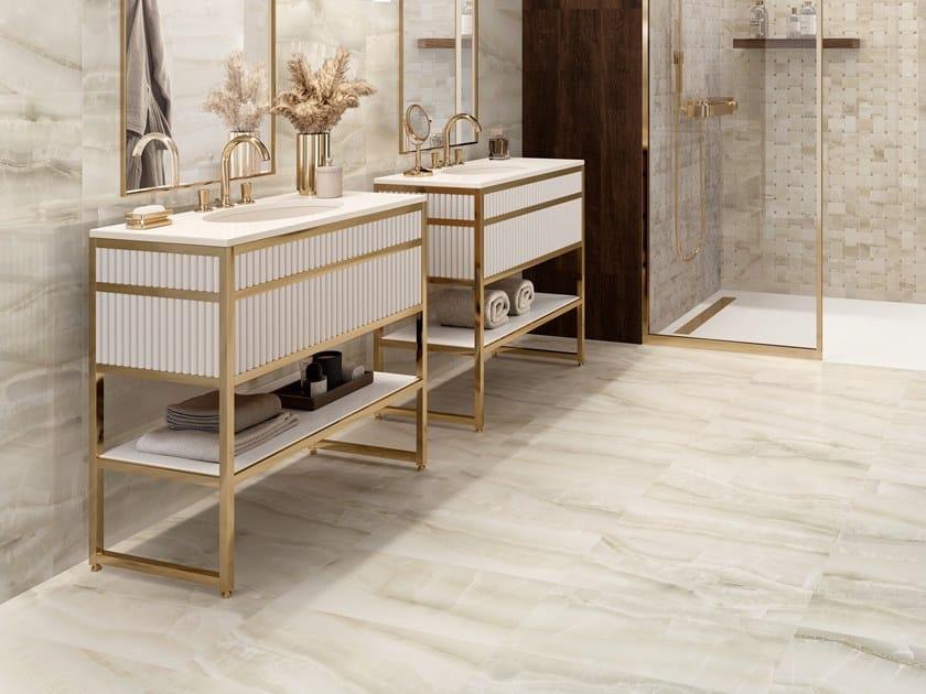 Pavimento/rivestimento in gres porcellanato effetto marmo AKOYA IVORY by CERAMICA SANT'AGOSTINO
