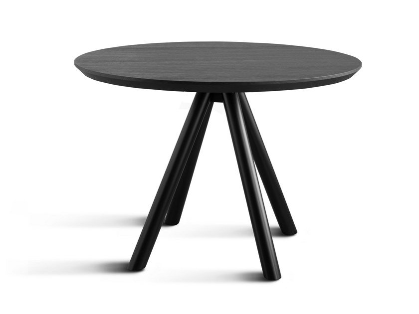 Round wooden dining table AKY CONTRACT by TrabA'