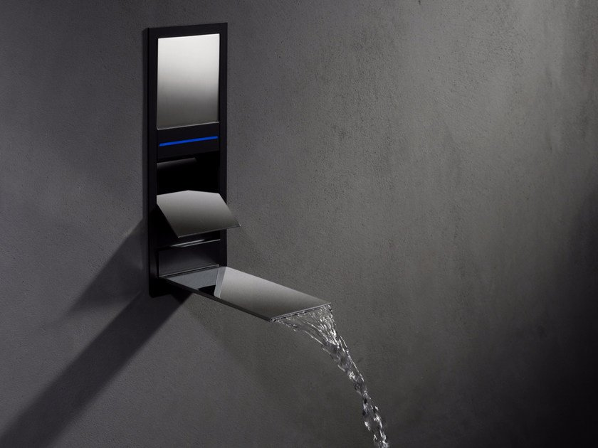 Wall-mounted LED waterfall bathroom tap AQUALITE | Contemporary style shower tap by newform
