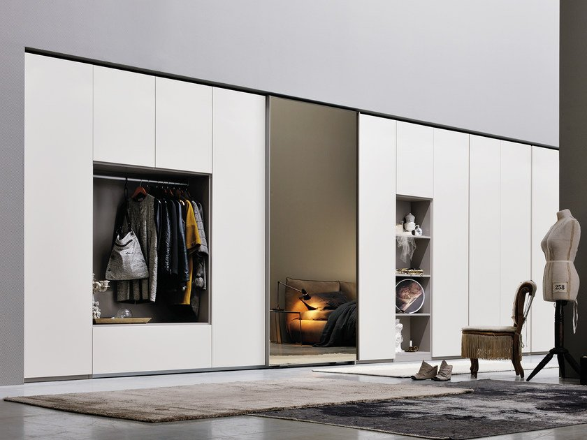 Sectional mirrored wardrobe ALA LINEAR by Silenia