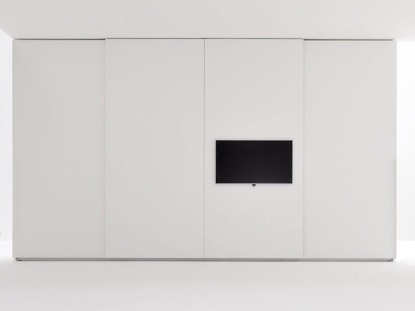 Sectional wardrobe with built-in TV ALA TV | Wardrobe with built-in TV by Silenia