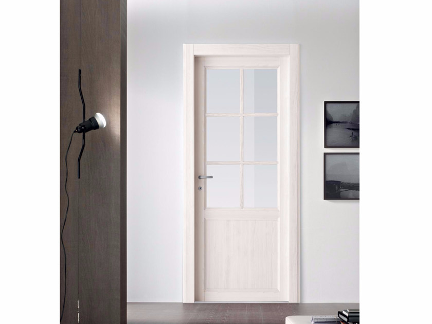 Hinged wood and glass door ALABAMA by Door 2000