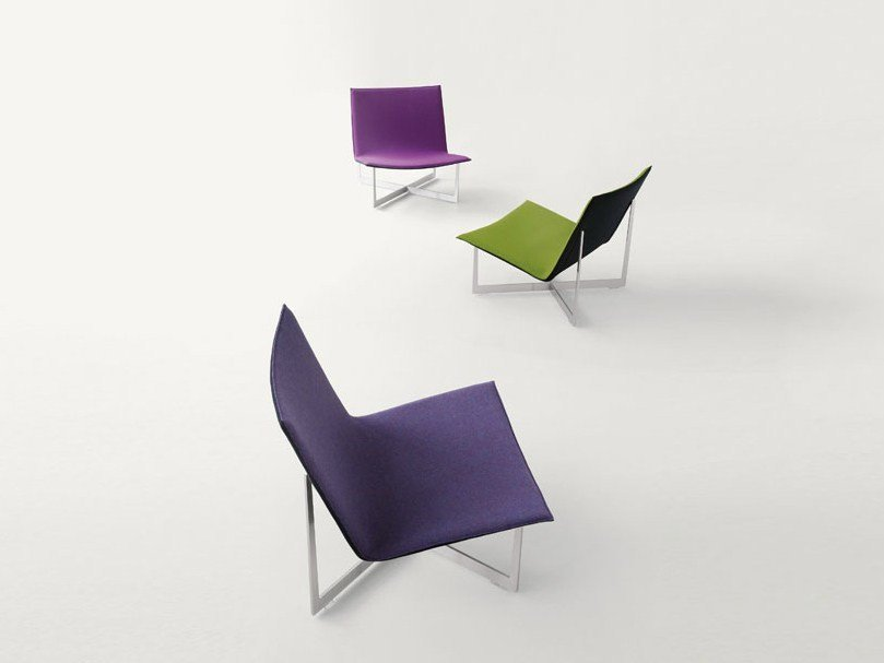 Felt armchair with removable cover ALADDIN by paola lenti