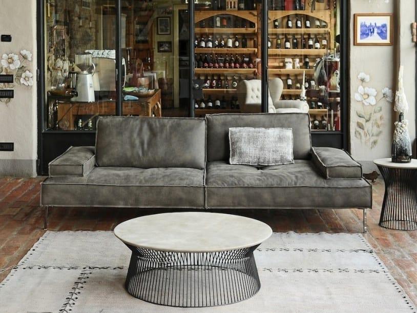 2 seater leather sofa ALAN | Leather sofa by Gobbo Salotti