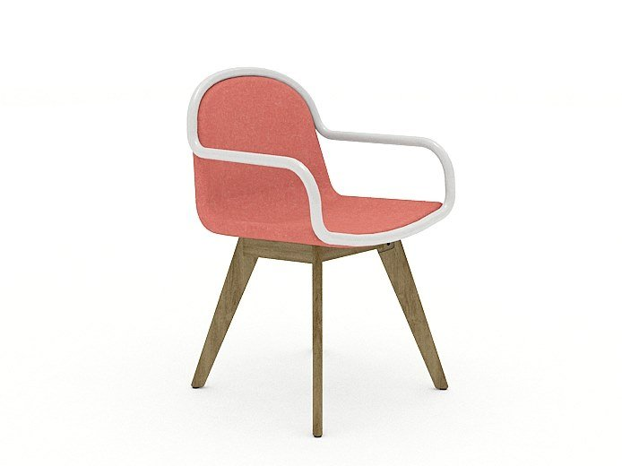 Chair with armrests ALARA | Chair with armrests by Tuna Ofis