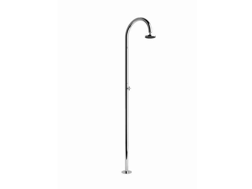 Stainless steel outdoor shower ALBA EC S by Inoxstyle