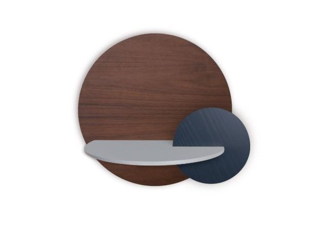 Round bedside table with concealed storage ALBA L - ROUND by Woodendot