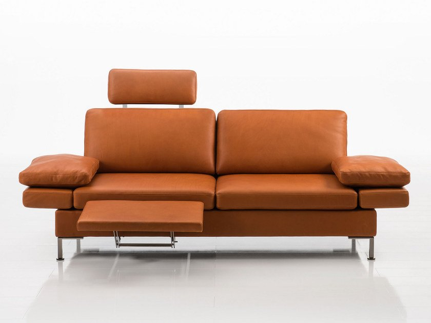 Delightful Convertible Leather Sofa ALBA | Leather Sofa By Brühl
