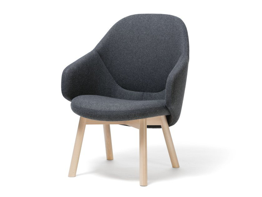 Fabric easy chair with armrests ALBA LOUNGE | Fabric easy chair by TON
