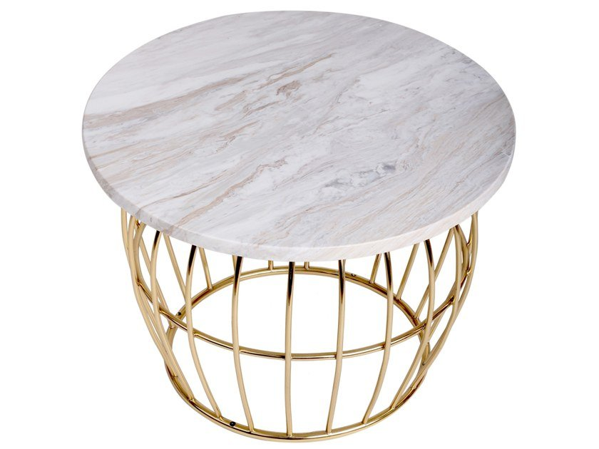 Round marble coffee table ALBANY by Porustudio