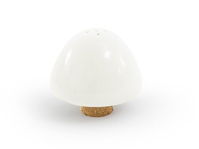 Porcelain salt shaker ALBE - THE PIGEONS WHITE SPONGE by UBIKUBI